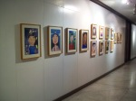 portraits wall on view at SightExhibit