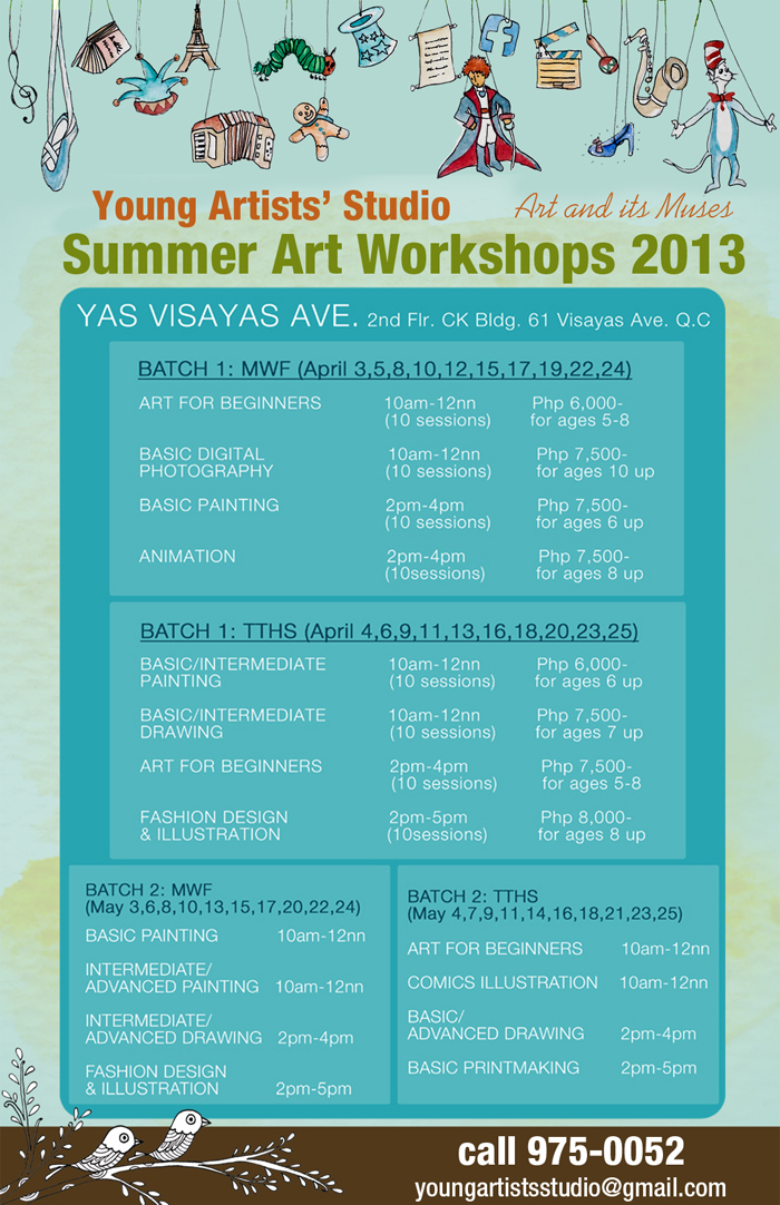 Summer Workshop, lessons, Activities, For Kids In Metro Manila 2013