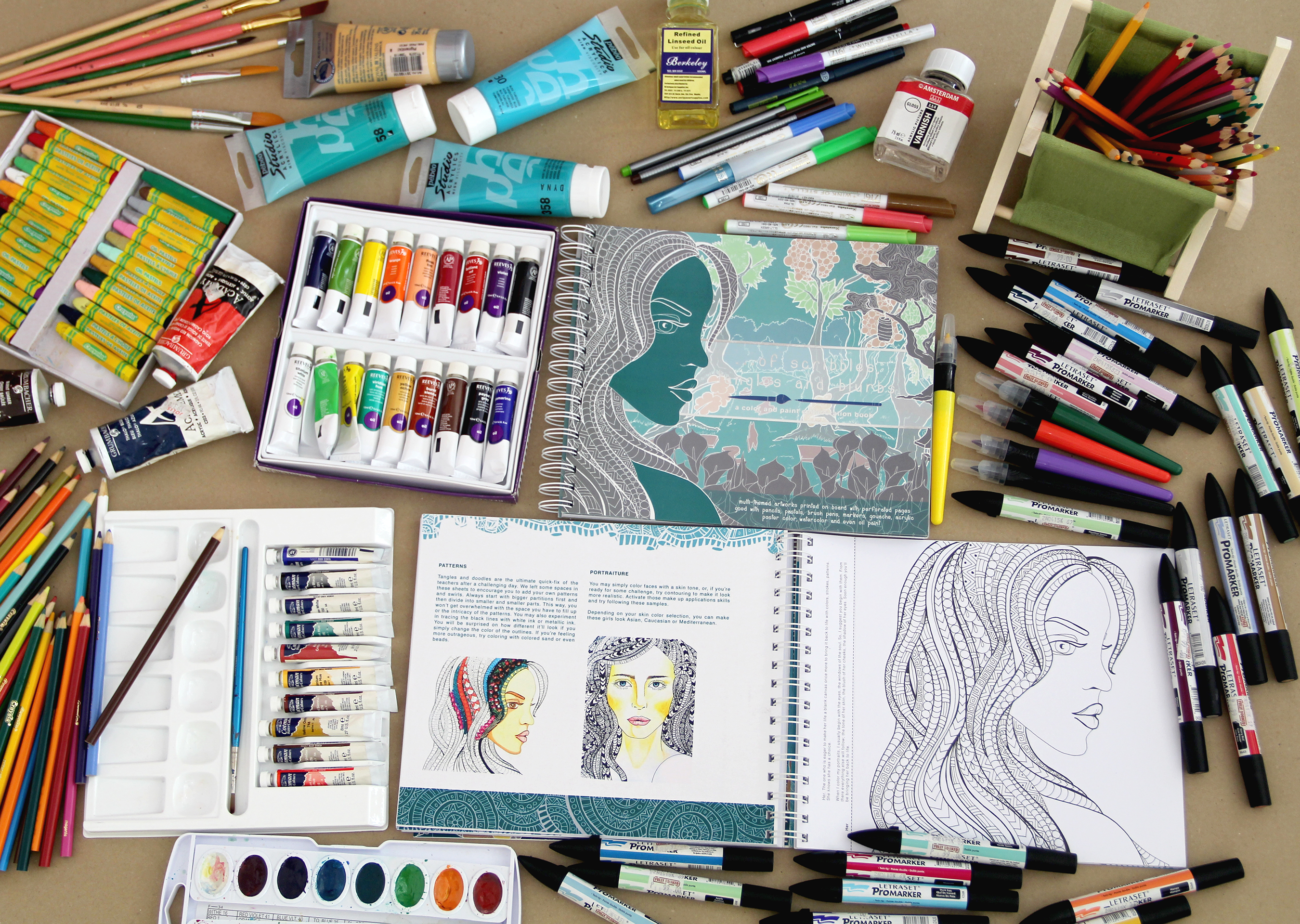 ostb color and paint book for adults young artists u0027 studio