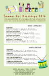 YAS Summer Schedule 2016 Fort Bonifacio TaguigCity