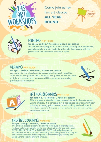 Young Artists Studio Art Programs