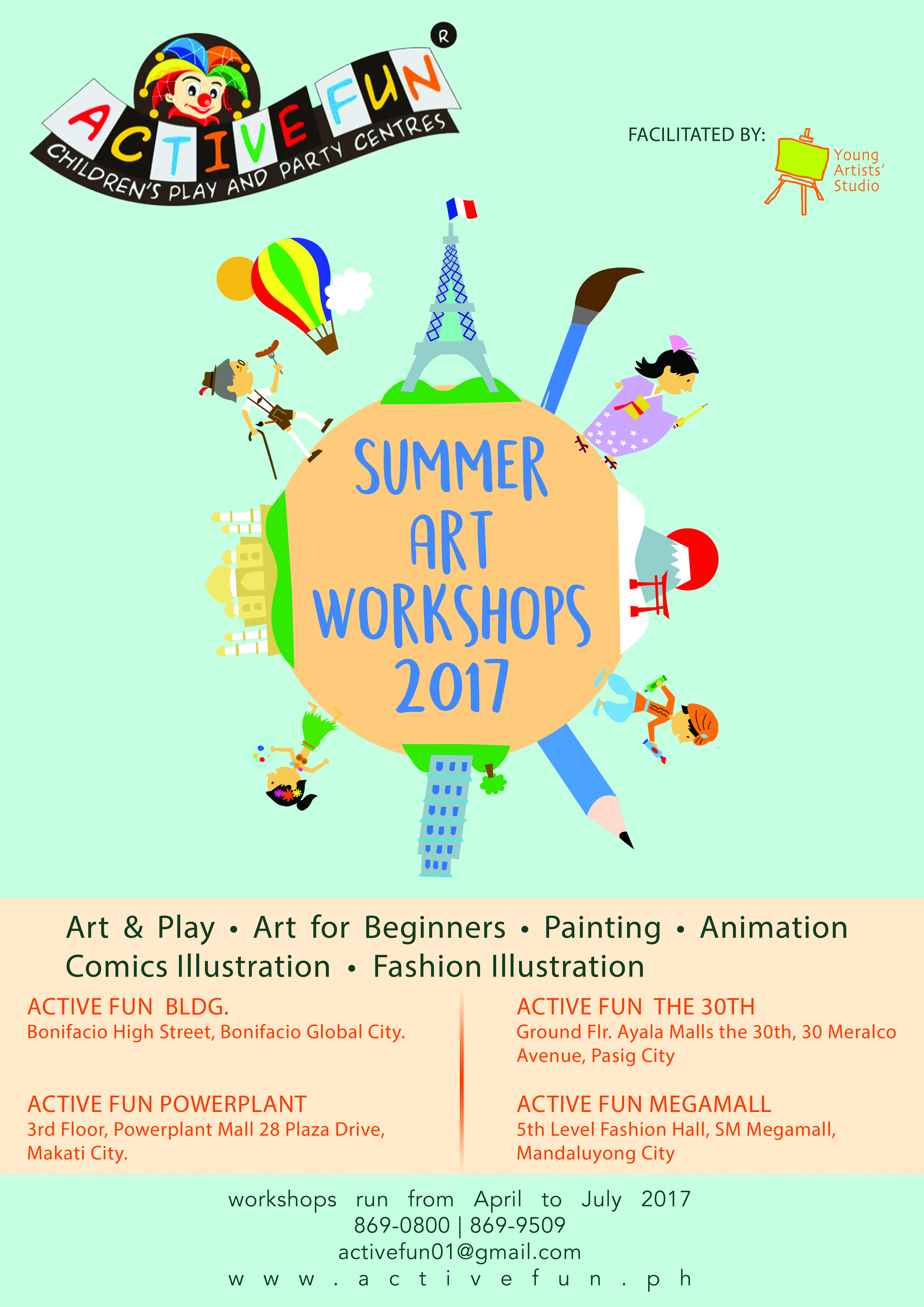 SUMMER WORKSHOP at Active Fun Branches | Young Artists' Studio