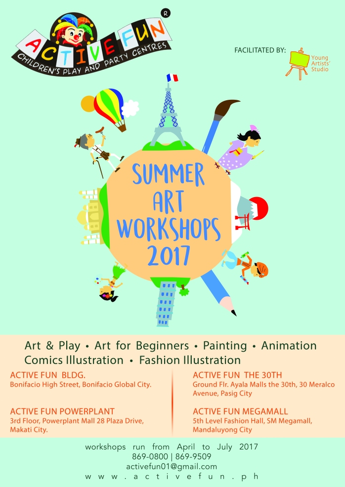 YAS Summer Art Workshop Poster 2017 A3 Active Fun