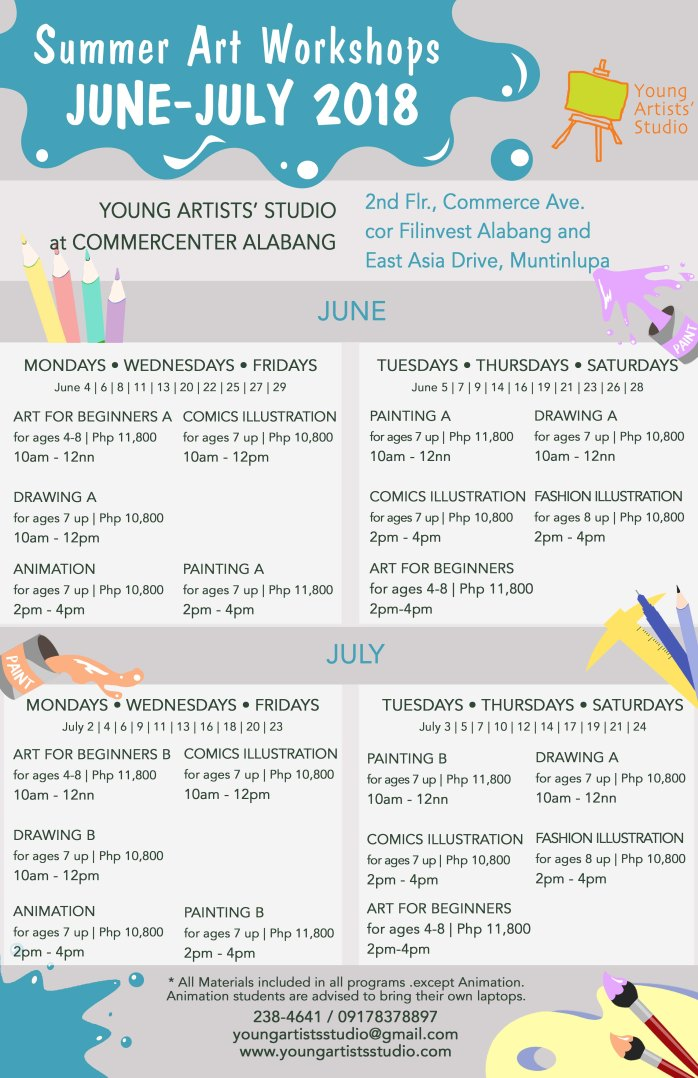 03 Alabang_Young_Artists_Studio_Summer_2018_schedule