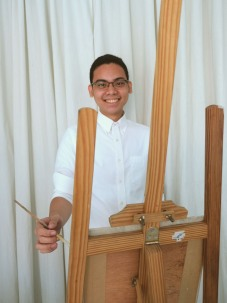 Teacher Mark: Mark Louise Lim Mark Louise Lim is a recent graduate from the University of Santo Tomas inEspaña, Manila with a Bachelor's degree in Fine Arts Major in Painting, Cum Laude, having graduatedin the year 2018. He has been participating in exhibitions since his undergraduate years, his experience including exhibitions in Beato Angelico Gallery, GSIS, and Robinsons Galleria, which feature his works done in various media.He continues his visual arts practise until today.