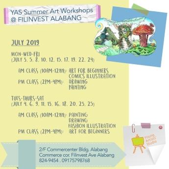 YAS Alabang July Schedules