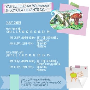 YAS Loyola Hts QC July Schedules