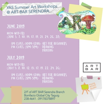 YAS @ Art Bar Serendra June & July Schedules