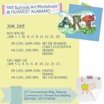 YAS Alabang June Schedules