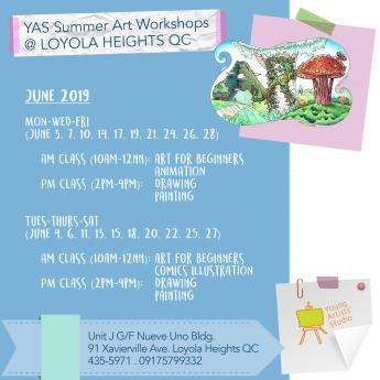YAS Loyola Hts QC June Schedules