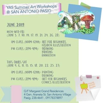 YAS San Antonio June Schedules