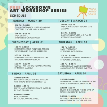 Lockdown Art Workshop Series_Poster -Collated Schedule