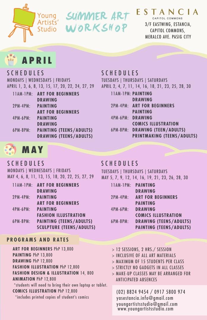 YAS SUMMER 2020 11 x 17 Schedule Estancia
