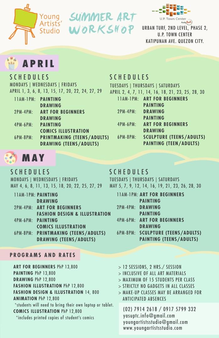 YAS SUMMER 2020 11 x 17 Schedule UPTC