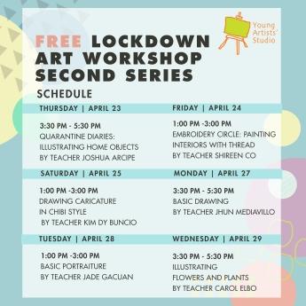 Lockdown Art Workshop Series 2_Poster -Collated Schedule