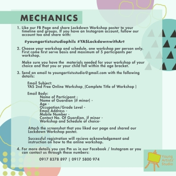 Lockdown Art Workshop Series_Mechanics