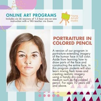 Online Art Programs_Portrait in Colored Pencil