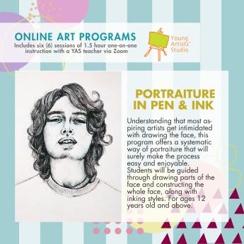 Online Art Programs_Portrait Pen and Ink