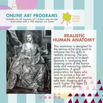 Online Art Programs_Realistic Human Anatomy