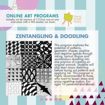 Online Art Programs_Zentangling and Doodle Art