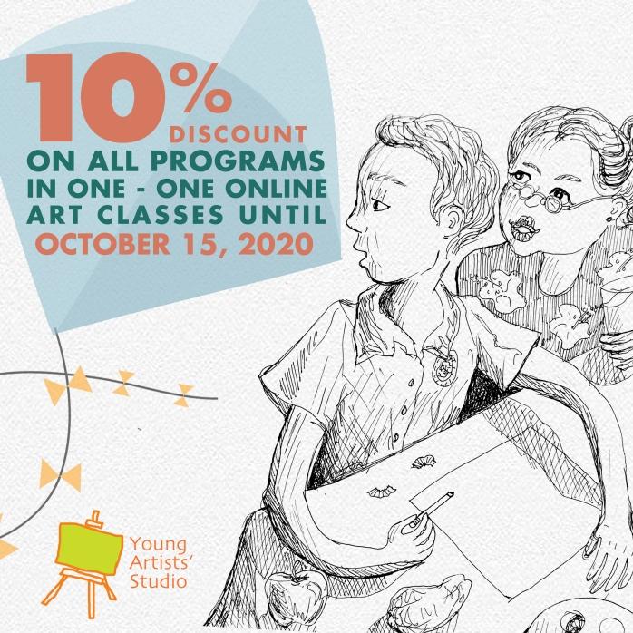 YAS Online Art Workshops Promo
