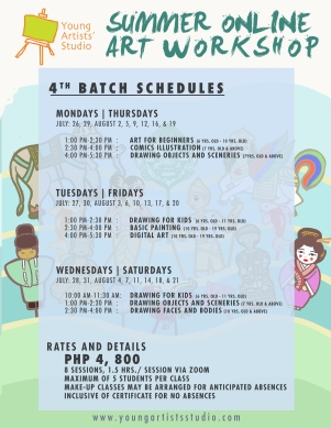 YAS SUMMER 2021 - JULY to AUGUST Schedules-1